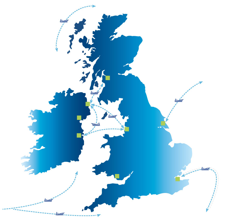 UK Shipping Map