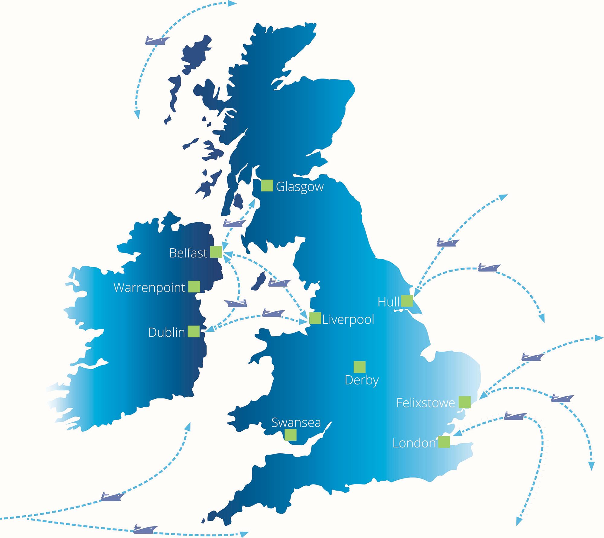 UK Shipping Map